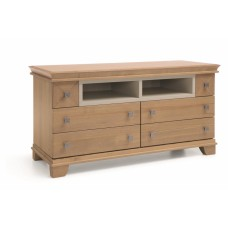 UNIMEBEL TIMELESS WOOD COLLECTION KOMODA ŚREDNIA RTV