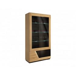 MEBIN Smart (Smile) Witryna szkło podwójna lewa z oświetleniem