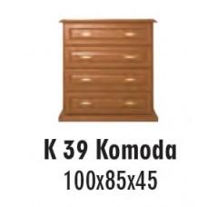 SOŚNO MEBLE ALBORG KOMODA K-39
