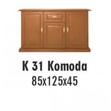 SOŚNO MEBLE ALBORG KOMODA K-31